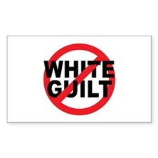 Anti Obama - No White Guilt Rectangle Decal