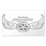 GoGo Wheels Rectangle Sticker 10 pk)