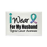 Thyroid Cancer (Husband) Rectangle Magnet (10 pack