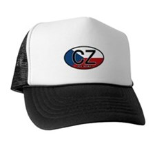 Czech Republic Euro Oval Trucker Hat