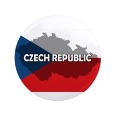 "Czech Republic Flag Extra 3.5"" Button (100 pack)"