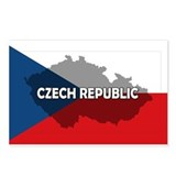 Czech Republic Flag Extra Postcards (Package of 8)