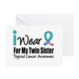 Thyroid (Twin Sister) Greeting Cards (Pk of 10)