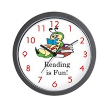 Unique Bookworm Wall Clock