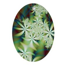 """Night Flowers 2"" Fractal Art Ornament ("