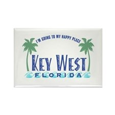 Key West Happy Place - Rectangle Magnet