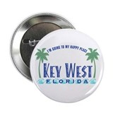 "Key West Happy Place - 2.25"" Button"