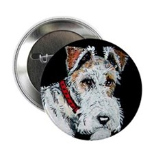 "Wire Fox Terrier 2.25"" Button (100 pack)"