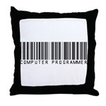 Computer Programmer Barcode Throw Pillow