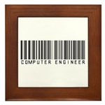 Computer Engineer Barcode Framed Tile