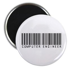 "Computer Engineer Barcode 2.25"" Magnet (10 pack)"