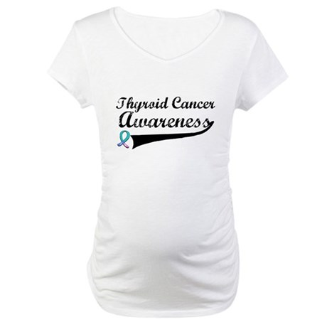 Thyroid Cancer Awareness Maternity T-Shirt