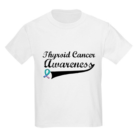 Thyroid Cancer Awareness Kids Light T-Shirt