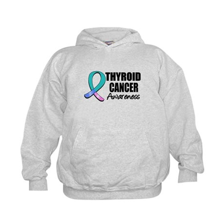Thyroid Cancer Awareness Kids Hoodie