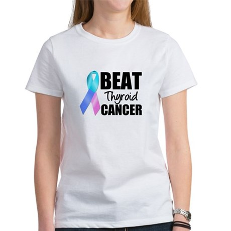 Beat Thyroid Cancer Women's T-Shirt