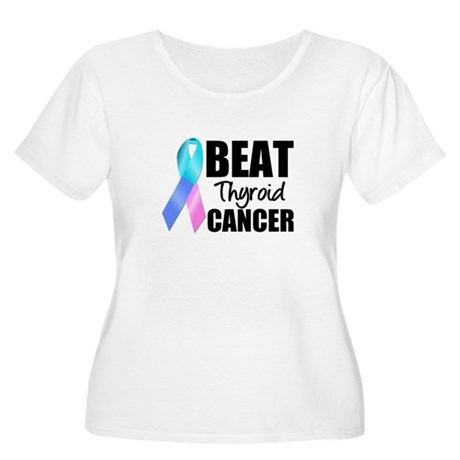 Beat Thyroid Cancer Women's Plus Size Scoop Neck T