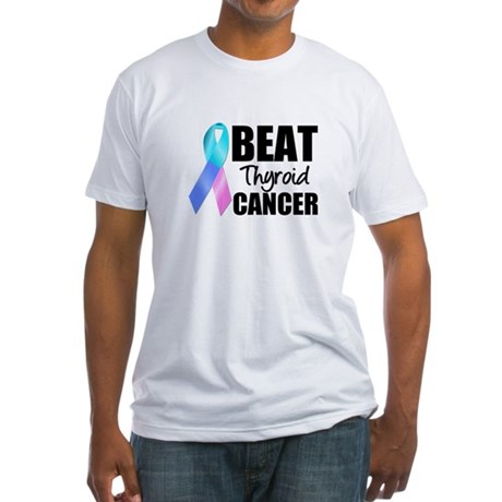 Beat Thyroid Cancer Fitted T-Shirt