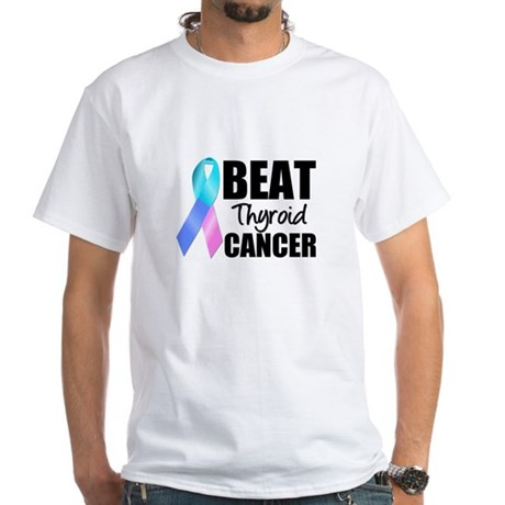 Beat Thyroid Cancer White T-Shirt