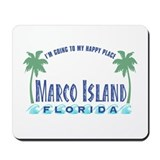 Marco Island Happy Place - Mousepad