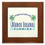 Marco Island Happy Place - Framed Tile