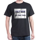 Half Man Half Giant Panda T-Shirt