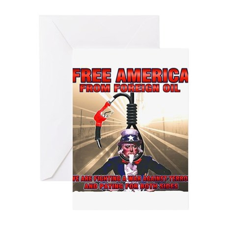 anti foriegn oil Greeting Cards (Pk of 20)