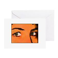 Green Eyes - Greeting Card