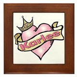Personalized Princess Karlee Framed Tile