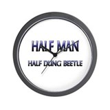 Half Man Half Dung Beetle Wall Clock