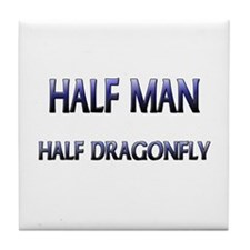 Half Man Half Dragonfly Tile Coaster
