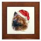 Christmas Eurasier Framed Tile
