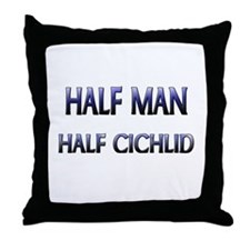 Half Man Half Cichlid Throw Pillow