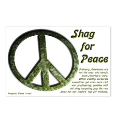 Eight Shag for Peace Postcards