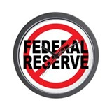 NO Federal Reserve Wall Clock