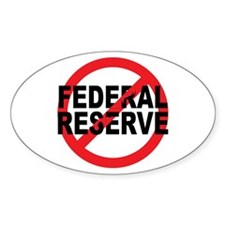 NO Federal Reserve Oval Sticker (50 pk)