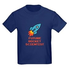 Future Rocket Scientist Kids Navy T-Shirt