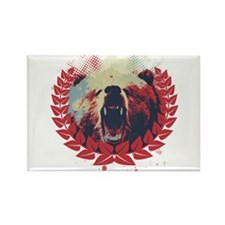 Grizzly Country Rectangle Magnet