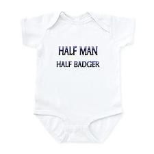 Half Man Half Badger Infant Bodysuit