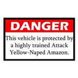Danger Attack Yellow-Naped Amazon Decal