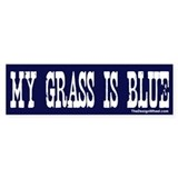 Famous My Grass Is Blue Bumper Bumper Sticker