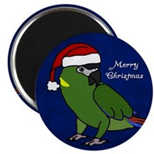 Santa Yellow Collared Macaw Magnet
