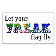 Freak Flag Rectangle Decal