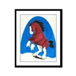 Draft Horse Play Framed Panel Print
