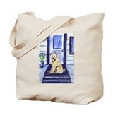 Wheaten waits at door Tote Bag