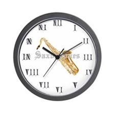 Joe's Saxophones Wall Clock