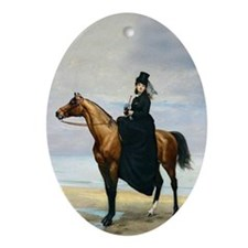 Equestrian Portrait Oval Ornament