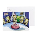 Wheaten Birthday party Greeting Cards (Package of
