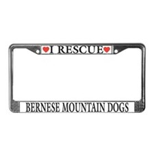 Bernese Mountain Dog Rescue License Plate Frame