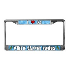 Love White Capped Pionus License Plate Frame