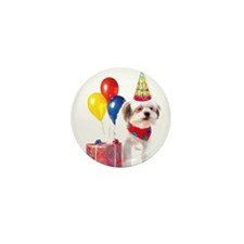 Birthday puppy Mini Button (10 pack)